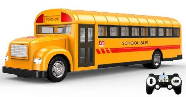 RC Autobus s otvíracími dveřmi 33cm na dálkové ovládání - školní USA autobus